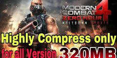 (Only 320MB) Modern combat 4 highly compress for Android Apk+data । Modern combat 4 free download