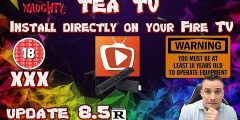 TEA-TV update! Adult APK how to install on your fire tv