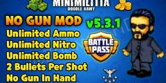 DA2 Mini Militia v5.3.1 Latest Update No Gun Mod Apk | Unlimited Ammo, Nitro, Bomb etc. | Zoomer HD