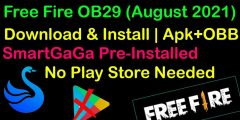 Link Free Fire OB29 (August 2021)  APK+OBB | Download & Install | SmartGaga Pre-Installed Download