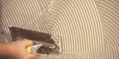 How to apply tile adhesive