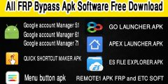 ALL FRP BYPASS APK SOFTWRE FREE DOWNLOAD